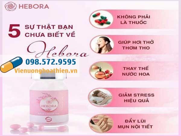 Viên Uống Hebora là sản phẩm được nhiều người tin dùng lựa chọn