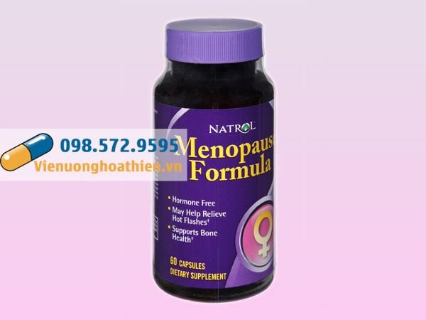 Natrol Menopause Formula được bào chế dưới dạng viên nang đóng lọ nhựa, 60 viên/lọ