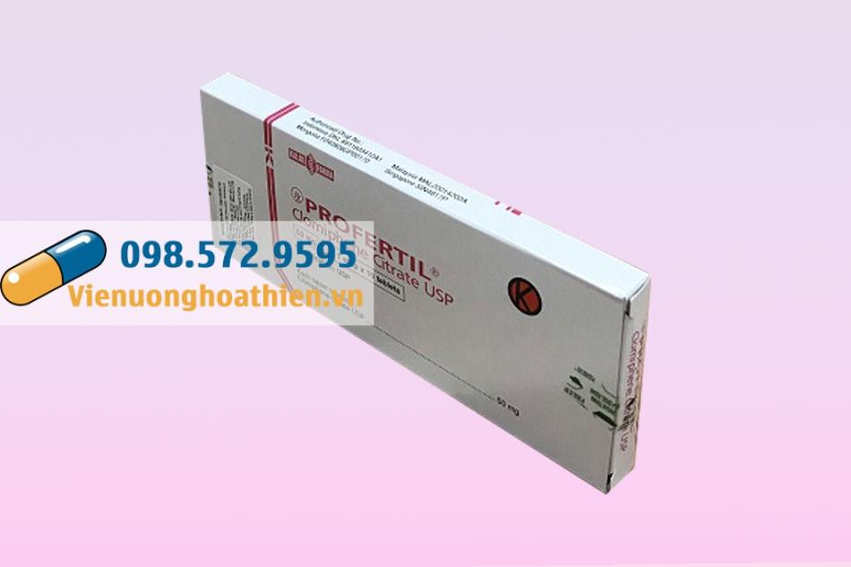 Thuốc Profertil 50mg giúp điều hòa kinh nguyệt