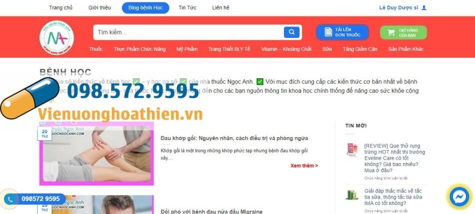 Trang Blog bệnh học của Nhà thuốc Ngọc Anh