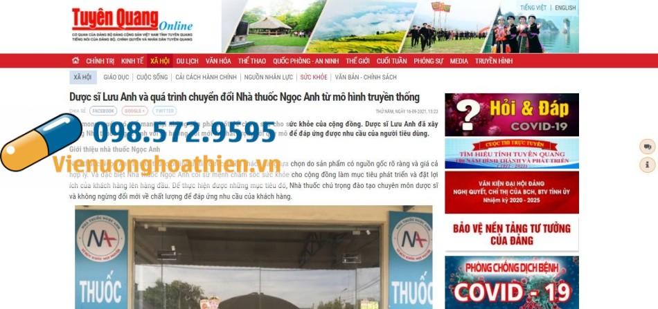 Báo Tuyên Quang đưa tin về Nhà thuốc Ngọc Anh